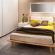 Modern bedroom with wooden Scandinavian style bed - PhotoDune Item for Sale