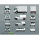 White Color of the Car in Three Positions - GraphicRiver Item for Sale