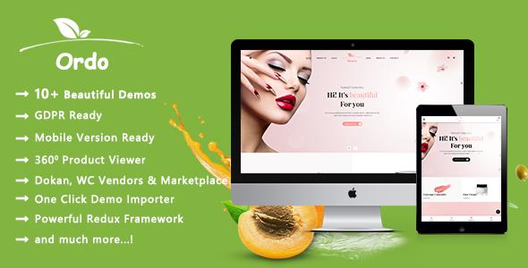 Ordo - Organic Beauty and Eco Products WooCommerce WordPress Theme