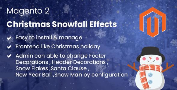 Magento 2 Christmas Snowfall Effects - CodeCanyon Item for Sale