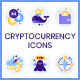 105 Cryptocurrency Icons - GraphicRiver Item for Sale