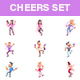 Cheers Party Cartoon Set - GraphicRiver Item for Sale