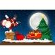 Santa Going Down Chimney Scene - GraphicRiver Item for Sale