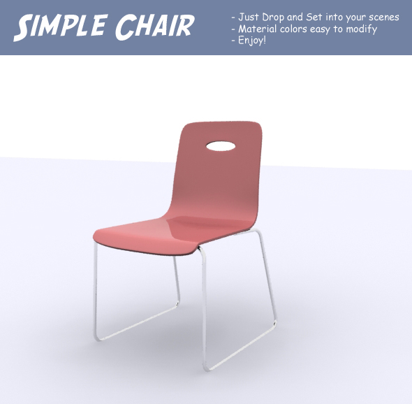 Simple Chair - 3DOcean Item for Sale