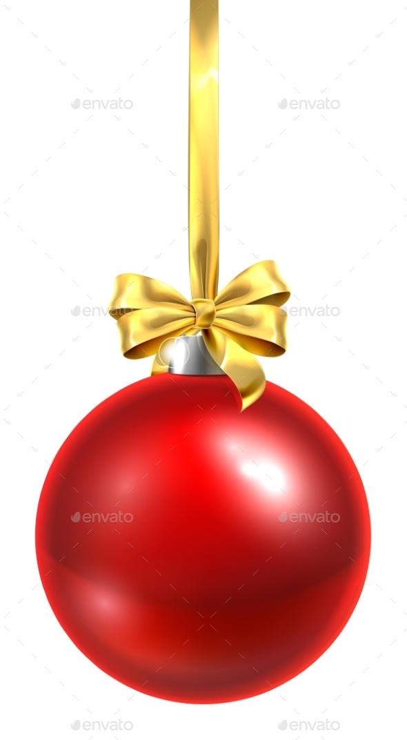 bauble christmas ball glass ornament red christmas seasonsholidays