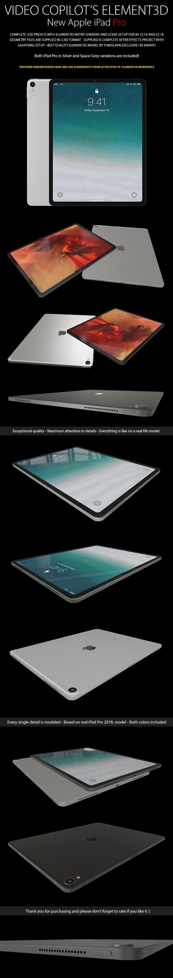 Element3D - iPad Pro (2018.)