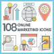 SEO & Marketing Icons - GraphicRiver Item for Sale