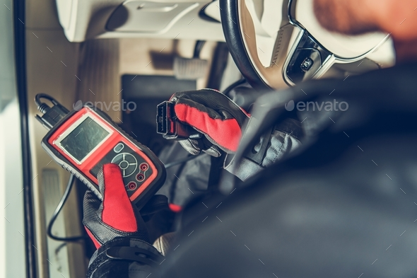 Car Computer Error Reading - Stock Photo - Images