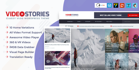 VideoStories – WordPress Video Theme