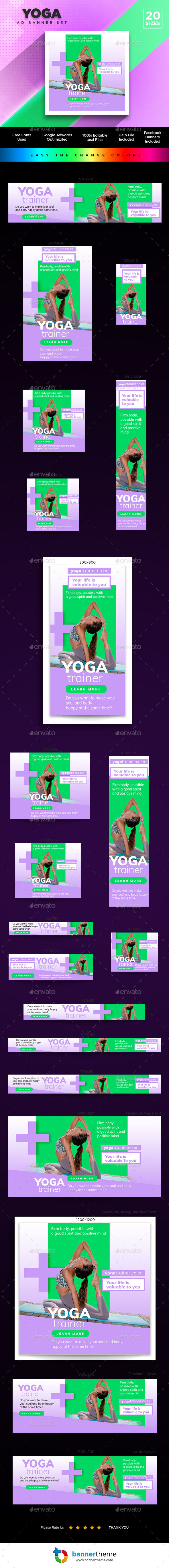 Yoga Banner - Banners & Ads Web Elements