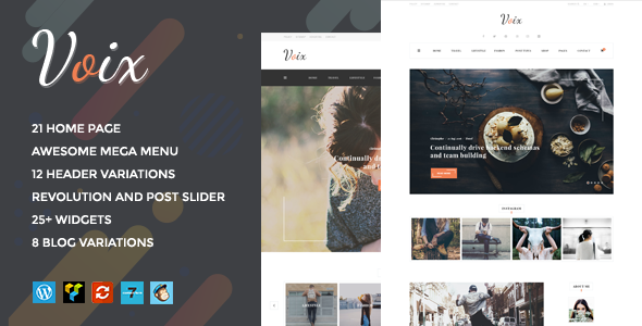 Voix – Personal Blogging WordPress Theme for Storytellers Free Download