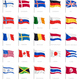 National Flags Realistic Set - GraphicRiver Item for Sale