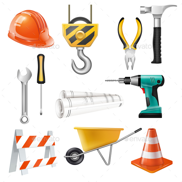 Construction Realistic Set - Miscellaneous Vectors