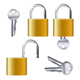Realistic Set of Identical Gold Padlocks - GraphicRiver Item for Sale