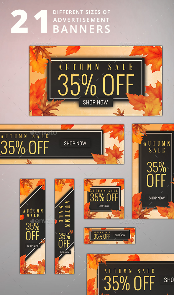Autumn Ad 21 Banners - Banners & Ads Web Elements