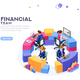 Financial Website Template Banner - GraphicRiver Item for Sale