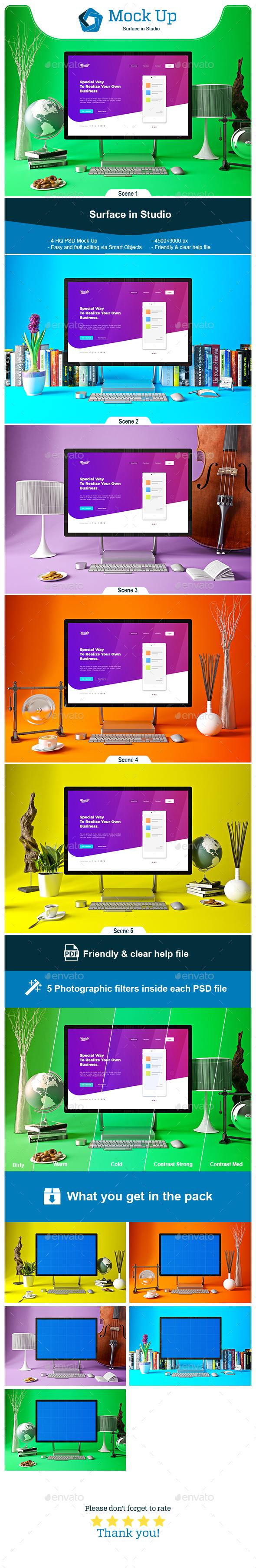 Surface in Studio - Monitors Displays