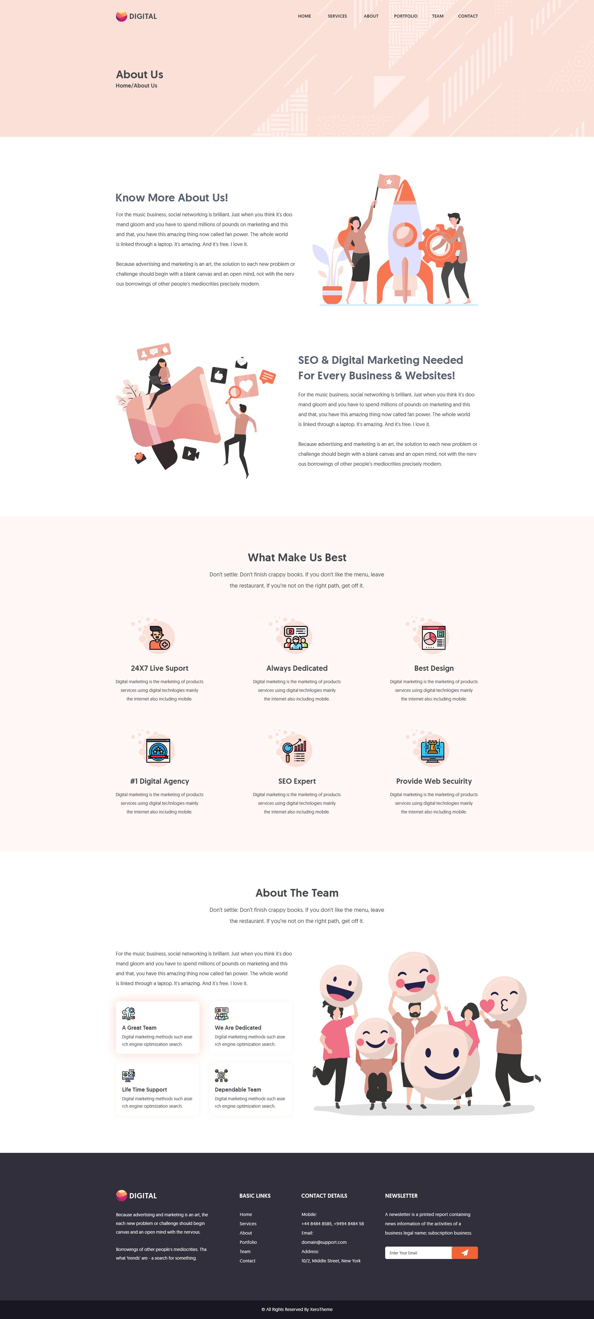 Digitax | SEO And Digital Marketing Agency PSD Template