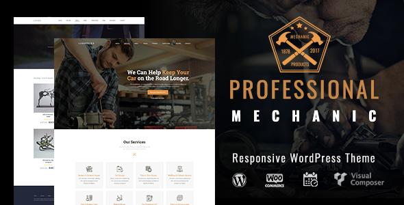 Auto Repair & Car Mechanic |  Mechanic Workshops, Auto Repair and Cars WordPress - Retail WordPress