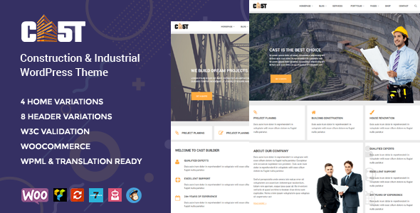 CAST - Construction, Industrial & Building Responsive WordPress Theme - Business Corporate