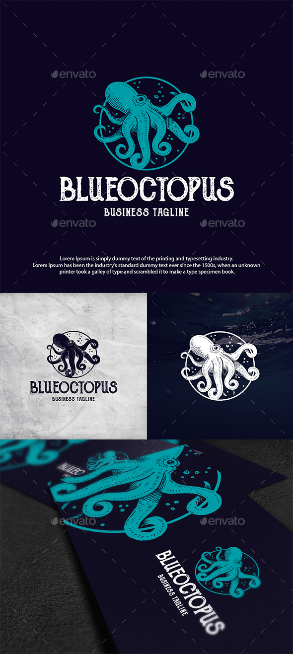 Ocean Octopus Logo Template - Animals Logo Templates