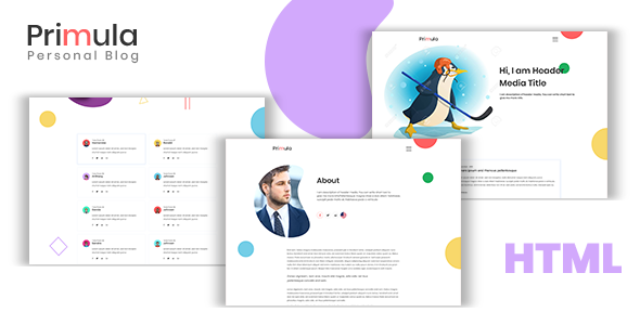 Primula - Modern HTML5 Blog Site Template Free Download | Nulled