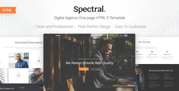 Spectral - Business & Agency One Page HTML5 Template - Business Corporate