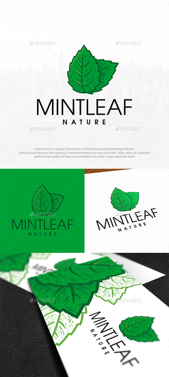 Mint Leaf Logo Template - Nature Logo Templates