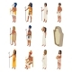 Egyptian Vector Ancient Egyptian People Characters - GraphicRiver Item for Sale