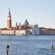San Giorgio Maggiore island and basilica in Venice at sunset - PhotoDune Item for Sale