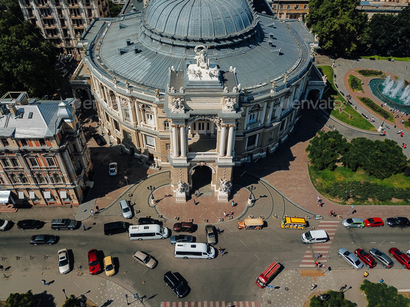 The building of the Odessa Opera Theater - Stock Photo - Images