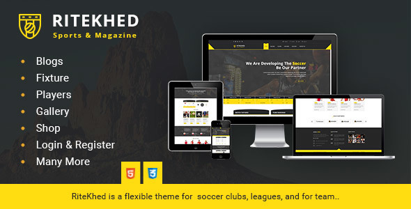 RiteKhed Fixtures and Sports Html Template Free Download | Nulled