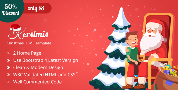 Kerstmis-Christmas Party HTML Template - Site Templates