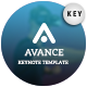 Avance Keynote Template - GraphicRiver Item for Sale