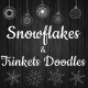 Christmas Snowflakes And Trinkets Doodles - VideoHive Item for Sale