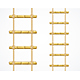 Realistic Detailed Bamboo Ladder Set - GraphicRiver Item for Sale