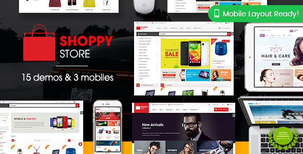 ShoppyStore - Multi-Purpose Responsive WooCommerce Theme (15+ Homepages & 3 Mobile Layouts Included)
