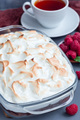 Baked Alaska with chocolate sponge cake, raspberry ice cream and - PhotoDune Item for Sale