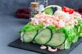 Traditional savory swedish sandwich cake Smorgastorta with bread - PhotoDune Item for Sale