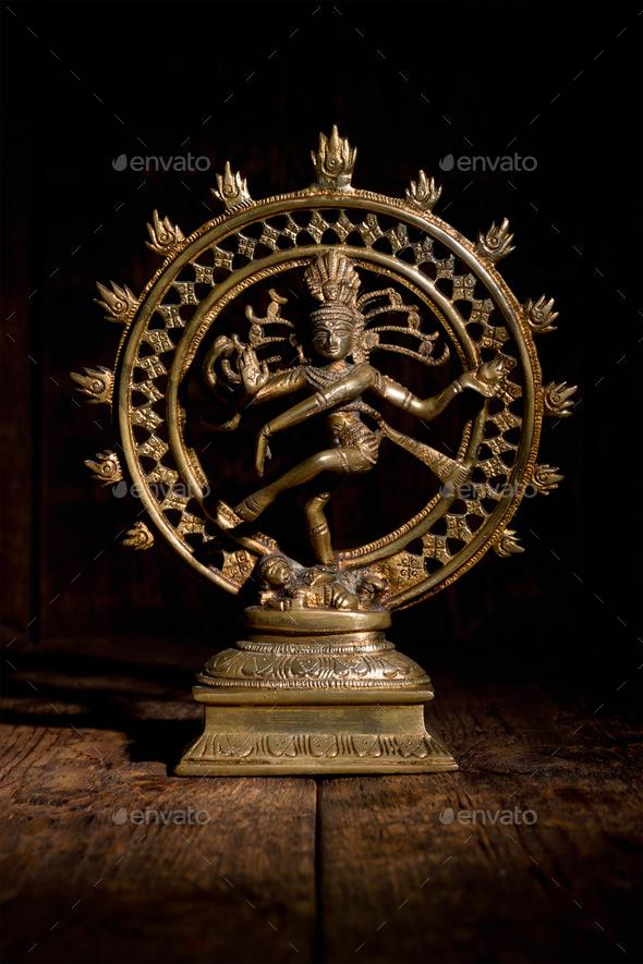 Statue of Shiva Nataraja - Lord of Dance - Stock Photo - Images