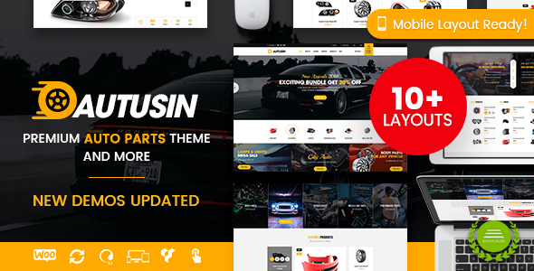 Autusin - Auto Parts & Equipments WooCommerce Theme (Mobile Layout Included)