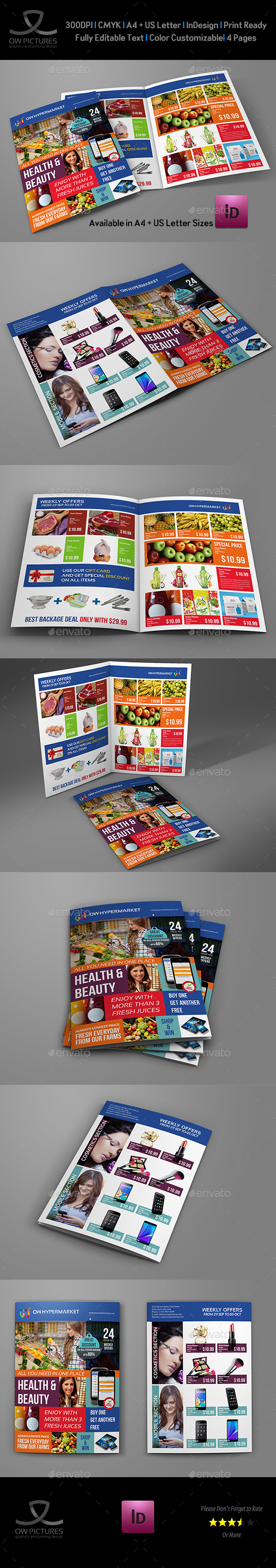 Supermarket Products Catalog Bi-Fold Brochure - Catalogs Brochures