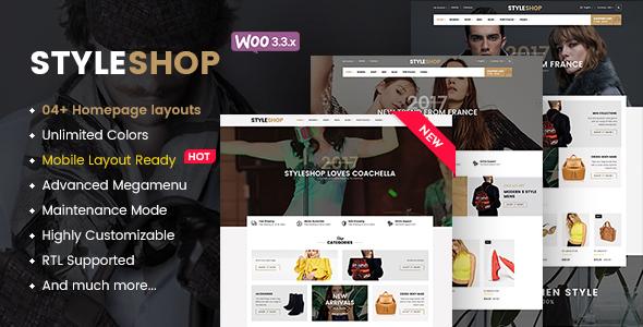 StyleShop - Multi-Purpose Responsive WooCommerce Theme (Mobile Layout Included) - WooCommerce eCommerce