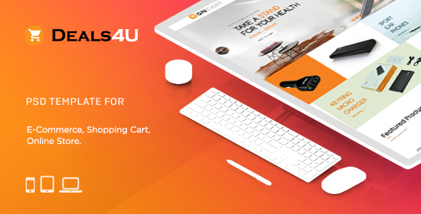 Deals4U E-Commerce PSD Template