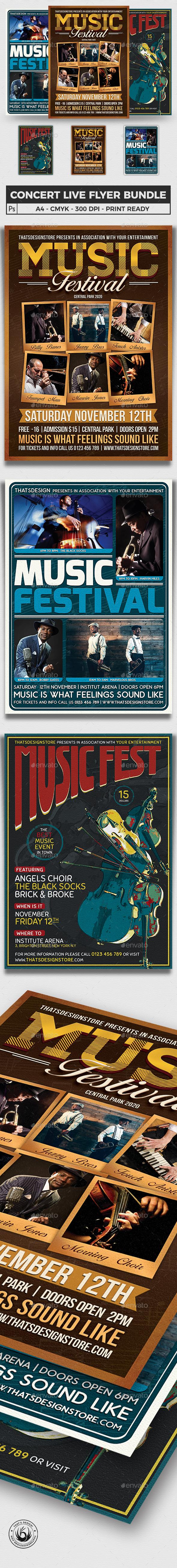 Concert Live Flyer Bundle V5 - Concerts Events