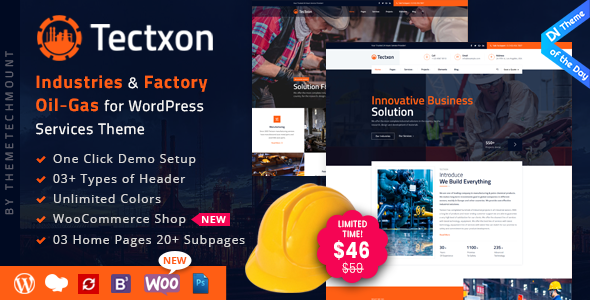 Tectxon - Industry & Factory WordPress Theme - Business Corporate