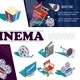 Isometric Cinema Elements Concept - GraphicRiver Item for Sale