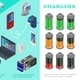 Isometric Chargers For Modern Devices Set - GraphicRiver Item for Sale