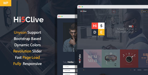 Hi5Clive - Digital Entrepreneur WordPress Theme Free Download | Nulled