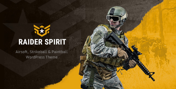 Raider Spirit | Airsoft Club & Paintball WordPress Theme - Entertainment WordPress
